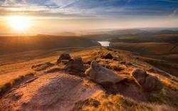 Hayfield england landscape