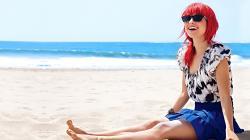 Hayley williams sexy look on beach 1080p