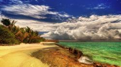 Glorious Beach Hdr wallpaper