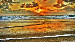 Glorious Beach On Sylt Isl Germany Hdr wallpaper