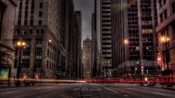 City Street In Long Exposure Hdr wallpaper
