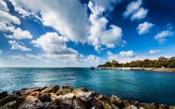 Download Wallpaper clouds landscapes nature coast rocks australia hdr photography beaches sea -3477-49