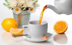 Healthy lemon tea