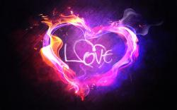 Heart love flame