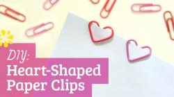 How to Make Heart Paper Clips: Valentine's Day