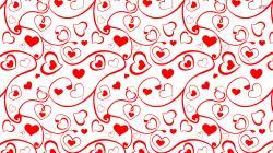 Heart and swirl pattern wallpaper 1920x1080