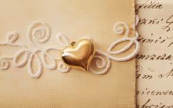 Heart Pendant Love Card Letter