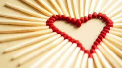 Matches Love Heart Wallpaper