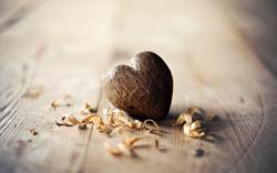Heart Wood Shavings Sawdust Love