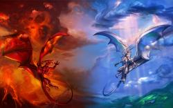 Heaven and hell dragons
