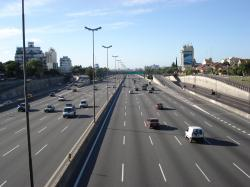 The Pan-American Highway in the Greater Buenos Aires, Argentina.