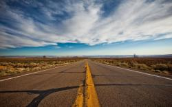 On a desert highway by