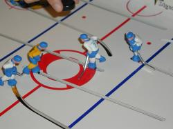 Table hockey face-off