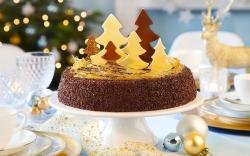 Holiday Christmas New Year Dessert Cake