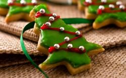 Holiday Christmas Trees Cookies Food New Year