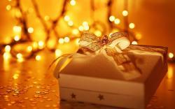 Holiday Gift Box New Year Christmas Lights