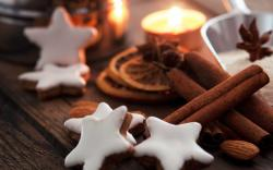 Holiday New Year Christmas Cookies Stars