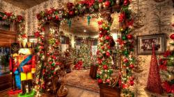 2560x1440 Wallpaper holiday, christmas, ornaments, toys, christmas tree