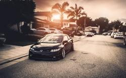 Honda Civic Car Tuning Parking