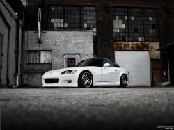 White Car Honda S2000 Wallpaper 02