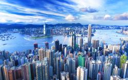 Hong kong skyline view
