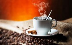 Hot coffee cinnamon