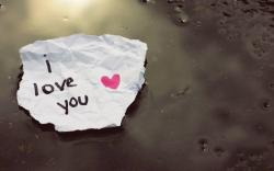 I Love You Note on Piece of Paper (click to view)