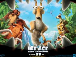"""Ice Age"" cartoon movie desktop wallpaper number 2 (1024 x 768 pixels)"