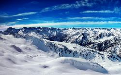 Ice Mountains Blue Sky