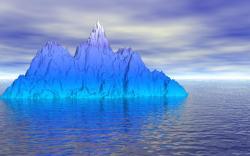 blue iceberg amazing wallpaper