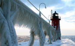 Icy Road Lighthouse