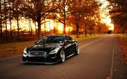 Infiniti G37 Road Trees Autumn Photo