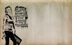 This Banksy-style wallpaper is perfect for artists and other creative types.