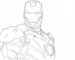 ... Iron Man [Line Drawing] by TehDrummerer