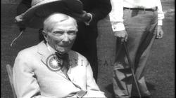 94 year old John Rockefeller plays golf. J. P. Morgan at a hearing of the Senate...HD Stock Footage