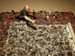 ... shannonrossalbers Miniature Model of Jackson Pollock at Work by Joe Fig | by shannonrossalbers