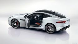 2015 Jaguar F-Type R Coupe Polaris White - Side Wallpaper