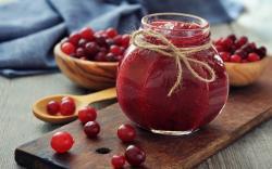 Jam Marmalade Cranberries Berries Jar Bowls