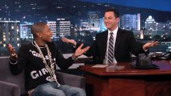 Jimmy Kimmel, Pharrell Williams Hold Twofie Shootout on Hollywood Blvd - Us Weekly