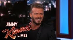 David Beckham on Retirement. Jimmy Kimmel Live