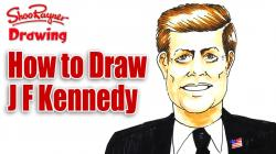 How to Draw John F Kennedy Spoken Tutorial
