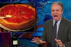 "Jon Stewart takes down Chicago's deep dish pizza in an epic ""Daily Show"" rant. Photo: Youtube"