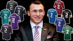 With the first round of the 2014 NFL Draft coming up Thursday, Johnny Manziel has made his way to New York City. On Wednesday, Manziel fielded a barrage of ...