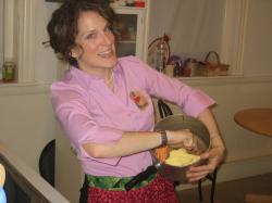Fortunately just days before the Halloween party we went to, I came up with my costume: Julia Child!