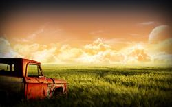 Junk Dodge Cornfield