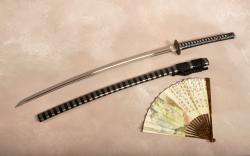Katana sword hand fan