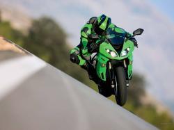 Kawasaki Ninja Zx Blue Hd Wallpaper Bike Picture 1600x1200px