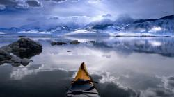winter kayaking mono lake california pictures