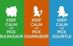Wallpaper Tags: orange grass choose bulbasaur awesome green water charmander fire blue squirtle pokemon
