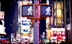 Keep Walking Sign New York Traffic City Street Night Lights HD wallpaper 1680x1050 ...